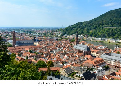 Heidelberg, Germany, the View to the old town