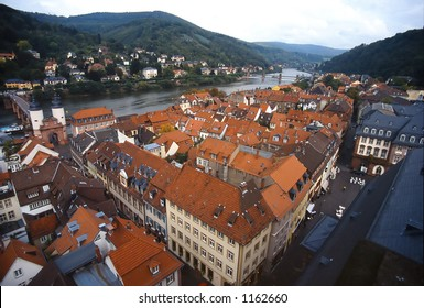 Heidelberg from the Top of Bell Tower