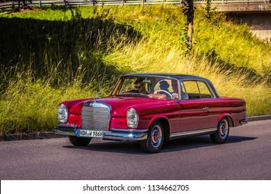 Heidenheim, Germany - July 8, 2018: Mercedes-Benz 220 SE at the 2. Oldtimer day in Heidenheim an der Brenz, Germany.