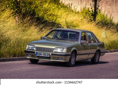 Heidenheim, Germany - July 8, 2018: 1984 Opel Senator A2 3.0 E at the 2. Oldtimer day in Heidenheim an der Brenz, Germany.
