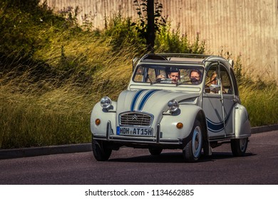 Heidenheim, Germany - July 8, 2018: Citroen 2CV at the 2. Oldtimer day in Heidenheim an der Brenz, Germany.
