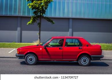 Heidenheim, Germany - July 8, 2018: Alfa Romeo Giulietta at the 2. Oldtimer day in Heidenheim an der Brenz, Germany.