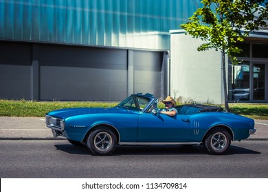 Heidenheim, Germany - July 8, 2018: 1967 Pontiac Firebird at the 2. Oldtimer day in Heidenheim an der Brenz, Germany.