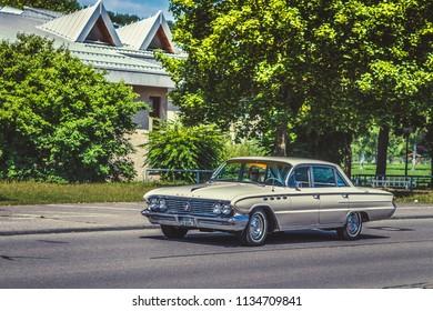 Heidenheim, Germany - July 8, 2018: 1961 Buick Electra at the 2. Oldtimer day in Heidenheim an der Brenz, Germany.