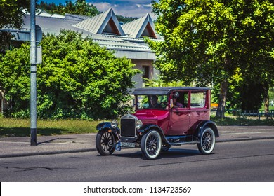 Heidenheim, Germany - July 8, 2018: 1917 Ford Model T at the 2. Oldtimer day in Heidenheim an der Brenz, Germany.