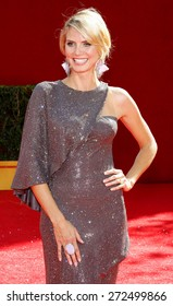 Heidi Klum at the 60th Primetime EMMY Awards held at the Nokia Theater in Los Angeles, California, United States on September 21, 2008.