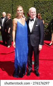 Heidi Klum and Tim Gunn at the 2014 Creative Arts Emmy Awards held at the Nokia Theatre L.A. Live in Los Angeles, United States, 160814.