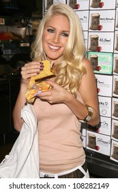 "Heidi Montag  at ""Reality Check Challenge' to Promote Taco Bell's partnership with The World Food Programme. Taco Bell, Los Angeles, CA. 10-02-08"