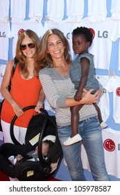 Heidi Rhoades, Jillian Michaels and daughter Lukensia at LG's Day of Good Clean Fun, Asconia Mansion, Beverly Hills, CA 06-23-12