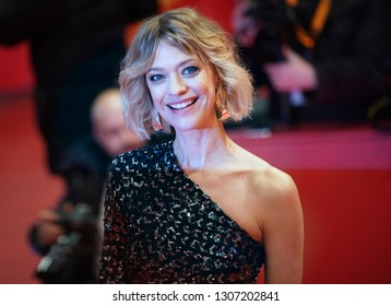 Heike Makatsch attends the 'The Kindness Of Strangers' premiere within the 69th Berlinale Film Festival at Berlinale Palace in Berlin, Germany on February 07, 2019.