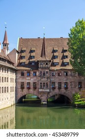 The Heilig Geist Spital is a famous building in the inner city of Nuremberg and is one of the best sceneries along the river Pegnitz