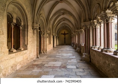 Heiligenkreuz, Vienna - October 11, 2017: Heiligenkreuz Abbey is a Cistercian monastery in the village of Heiligenkreuz in Vienna woods; oldest continuously occupied Cistercian monastery in the world.