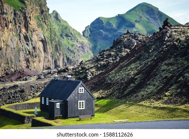 Heimaklettur, on the island of Heimaey, is the highest peak in this craggy and windswept archipelago