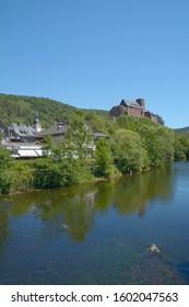 Heimbach at Rur River in Eifel National Park,North Rhine westphalia,Germany