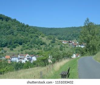 Heimbuchenthal in Spessart Nature reserve near Mespelbrunn,Bavaria,Germany