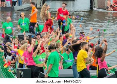 Heineken Boat At The Gay Pride Amsterdam The Netherlands 2019