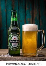 Heineken Lager Beer (Dutch: Heineken Pilsener), or simply Heineken, is a pale lager beer with 5% alcohol by volume produced by the Dutch brewing company Heineken International.