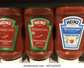 Heinz ketchup section at Publix Saint Augustine, Florida USA. February 4, 2018