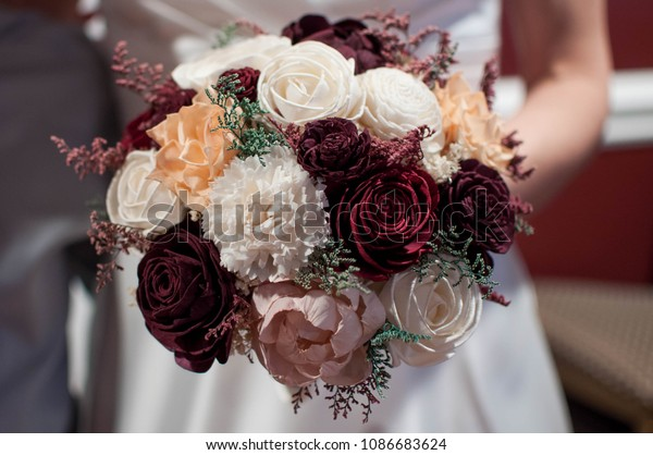 Heirloom Bridal Wedding Bouquet Hand Crafted Stock Photo Edit Now
