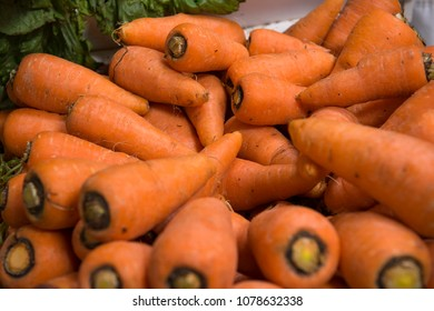 Heirloom carrots of the Andes, South America, sold in Ecuadorian market.