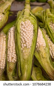 Heirloom corn of the Andes for sale in Ecuadorian street market.