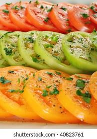 heirloom tomatoes closeup