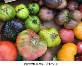 Heirloom Tomatoes, irregular in size