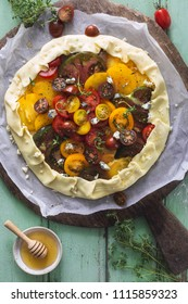 Heirloom Tomatoes Tart with Blue Cheese, Thyme and Honey