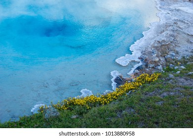 Heisse Quelle im Yellowstone Nationalpark, Wyoming - Shutterstock ID 1013880958