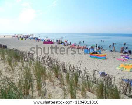 hel poland people relaxing beach hel stock photo edit now