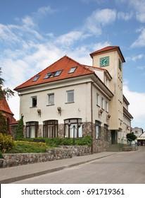 HEL TOWN. HEL PENINSULA. POLAND. 15 JUNE 2012 : Townhouse in Hel town. Hel Peninsula. Poland