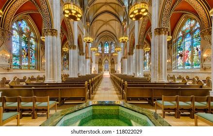 HELENA, MONTANA - AUGUST 3: Interior of the Cathedral of Saint Helena on August 3, 2012 in Helena, Montana