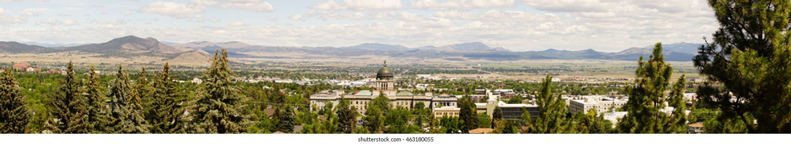 Helena Montana Capital Building with mountain background