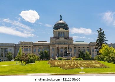 HELENA, MONTANA - JULY 8, 2018: Montana State Capital Building in Helena Montana