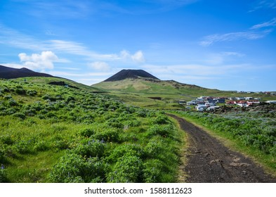 Helgafell, an inactive 227-metre-high volcanic cone located on the island of Heimaey in the Vestmannaeyjar archipelago in Iceland