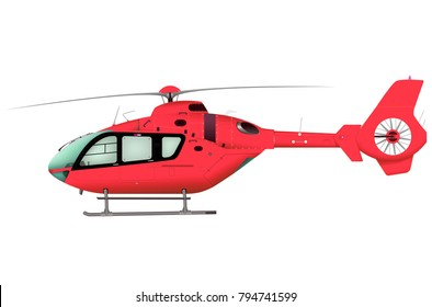 Helicopter. 3d illustration.