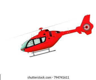 Helicopter. 3d illustration.