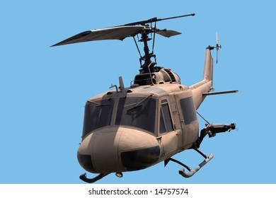 helicopter against a blue sky