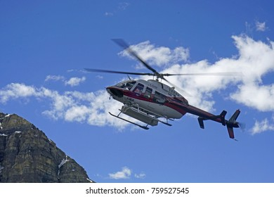 Helicopter , British Columbia, Canada. June 2017. for editorial use only