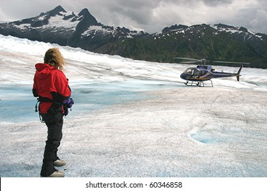 Helicopter Glacier Rendezvous