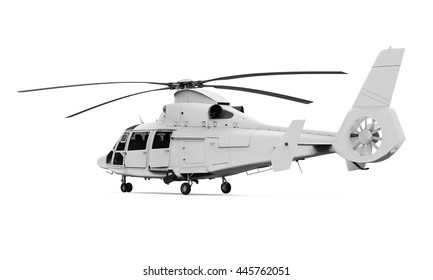 Helicopter Isolated. 3D rendering