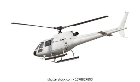 Helicopter isolated on white.