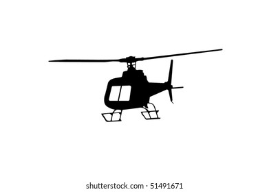 helicopter isolated on the white