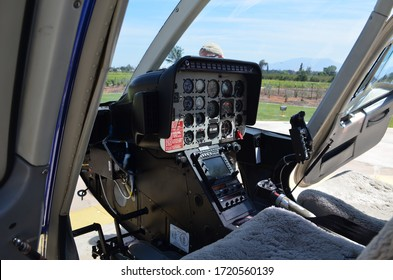 helicopter landed in airport cabin instrument