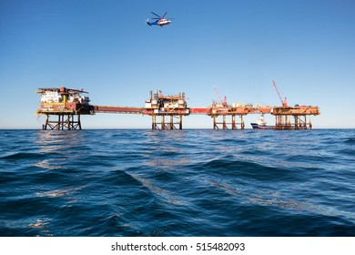 helicopter landing on offshore Oil & Gas installation