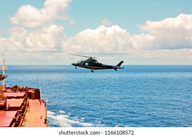 Helicopter as the main means of landing and acceptance of sea pilots for sea vessels in Australian waters, 2018.