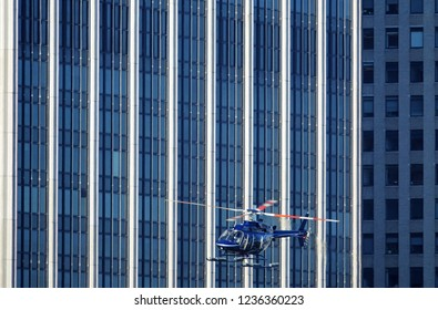 Helicopter in NewYork City