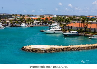 Helicopter Pad in Yacht Harbor