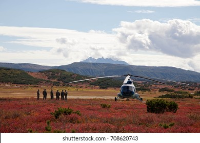 Helicopter pilots in Kamchatka