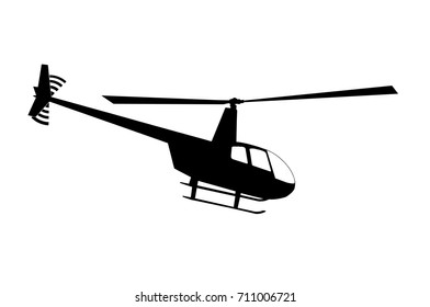 helicopter silhouette on white background